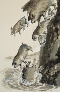Gadarene Swine by Clive Uptton