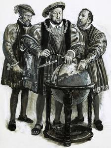 Henry VIII Agrees to Plans to Sail to China by a North-East Passage by Clive Uptton
