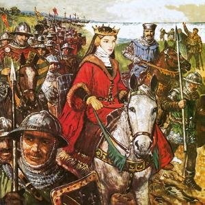 Queen Isabella Invading England by Clive Uptton