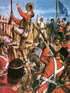 Storming of the Eureka Stockade by Clive Uptton