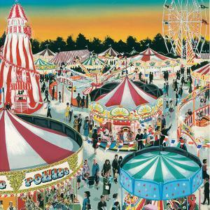 The Fair (Gouache on Paper) by Clive Uptton