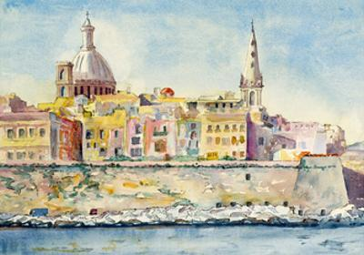 A Watercolor Painting of Valletta, Malta by clivewa