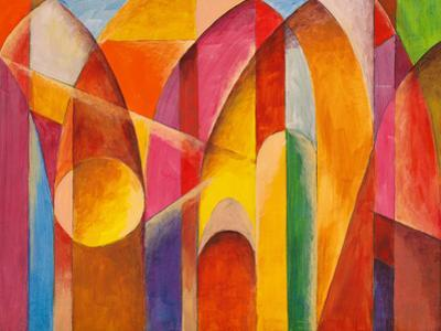 An Abstract Painting, Suggestive of Architecture by clivewa