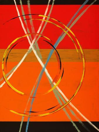 An Abstract Painting with Arcs, Circles and Stripes by clivewa