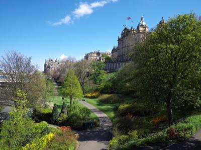 Princes Street Gardens, Edinburgh, Scotland by clivewa