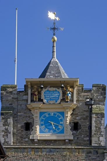 Clock (1561-1562) on Front of Parish Church of St Mary the Virgin (12th Century)--Photographic Print
