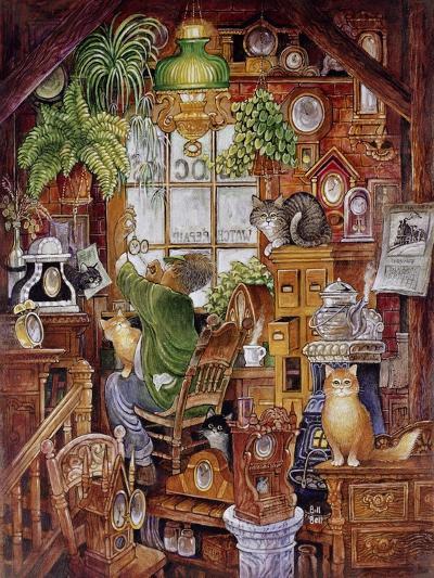 Clock Man 2-Bill Bell-Giclee Print