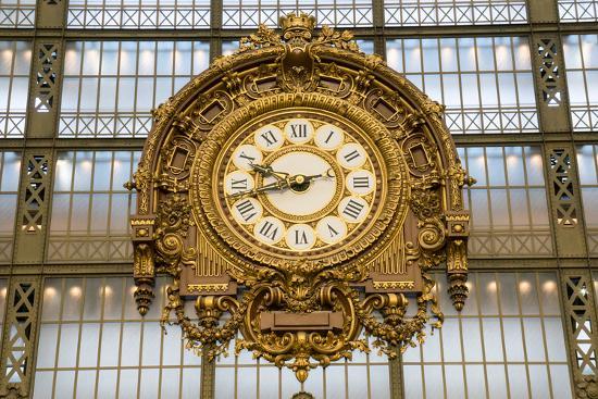Clock, Musee d'Orsay, Paris, France, Europe-Peter Groenendijk-Photographic Print