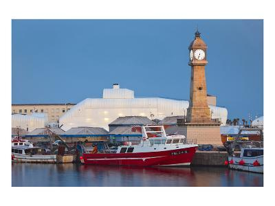 Clock tower in the harbour of Barcelona, Catalonia, Spain--Art Print