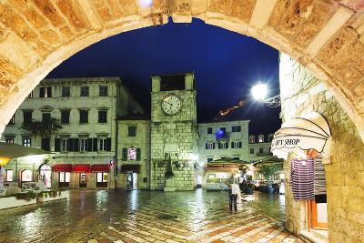 Clock Tower, Kotor, UNESCO World Heritage Site, Montenegro, Europe-Christian Kober-Photographic Print
