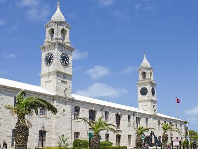 Clock Tower (Mall) at the Royal Naval Dockyard, Bermuda, Central America-Michael DeFreitas-Photographic Print