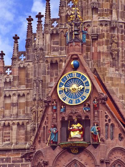 Clock Tower of Church of Our Lady, Nuremberg, Germany-Miva Stock-Photographic Print