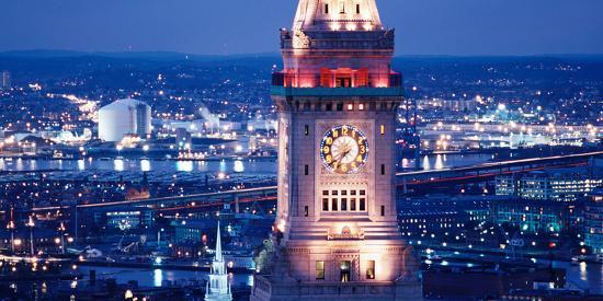 Clock Tower of the Custom House, Boston, Suffolk County, Massachusetts, USA--Photographic Print
