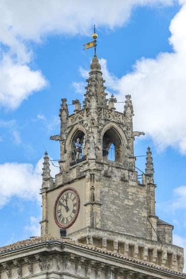 Clock tower of town hall, Avignon, France-Jim Engelbrecht-Photographic Print