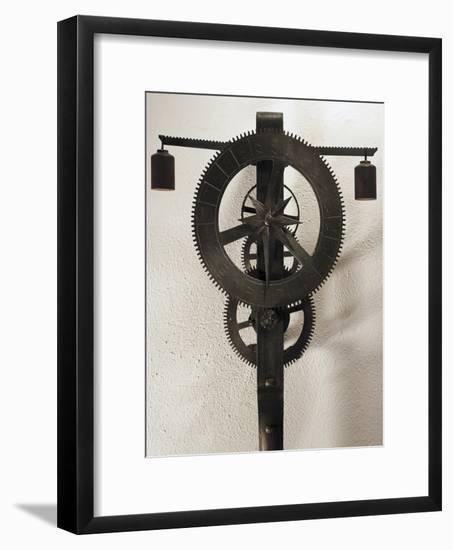 Clock with Weights Designed-Filippo Brunelleschi-Framed Giclee Print