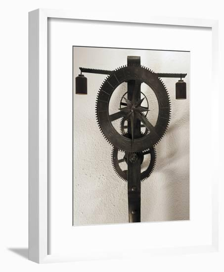 Clock with Weights Designed-Filippo Brunelleschi-Framed Giclee Print
