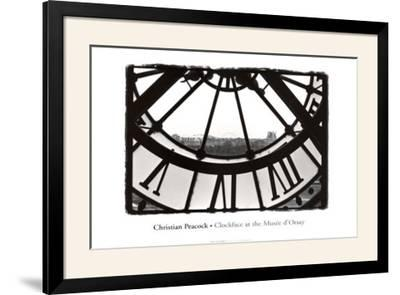 Clockface At the Musee D'orsay-Christian Peacock-Framed Art Print
