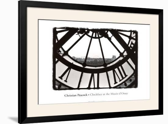 Clockface At the Musee D'orsay-Christian Peacock-Framed Art Print