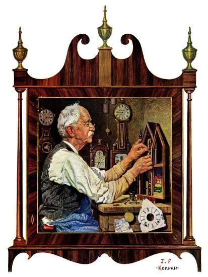 """Clockmaker,""July 18, 1931-J^F^ Kernan-Giclee Print"