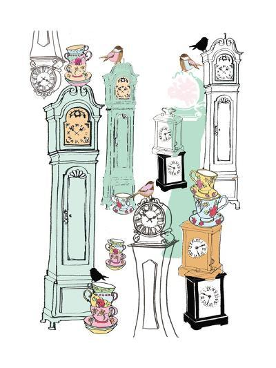 Clocks, 2013-Anna Platts-Giclee Print