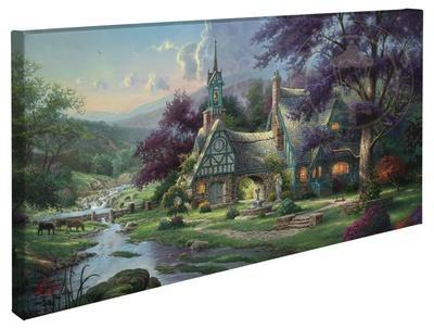 clocktower cottage gallery wrapped canvas by thomas kinkade art com rh art com