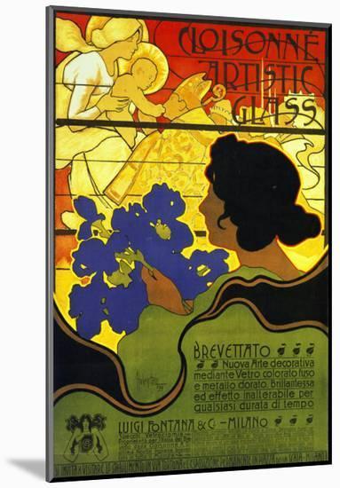 Cloisonne Artists 1899-Adolfo Hohenstein-Mounted Art Print