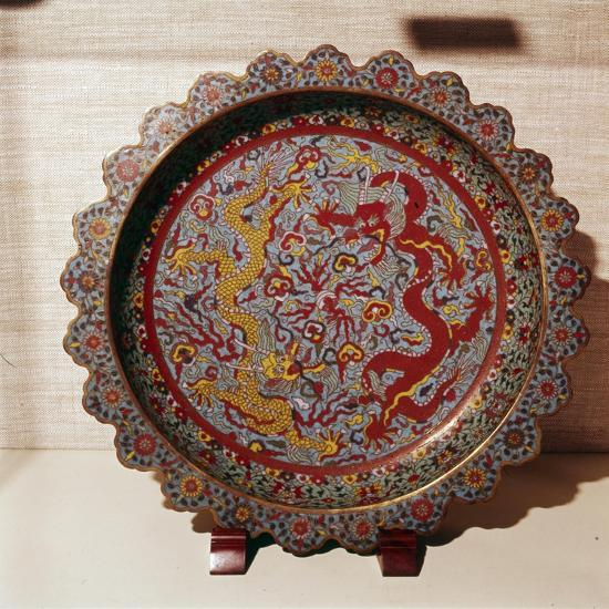 Cloisonne Enamel Dish, Chinese-Unknown-Giclee Print
