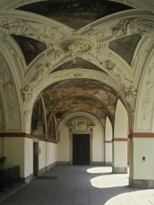 Cloister at Svatá Hora with Rich Fresco and Stucco Decoration