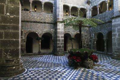 Cloister in Pena National Palace, Sintra (Unesco World Heritage List, 1995), Portugal, 19th Century--Giclee Print