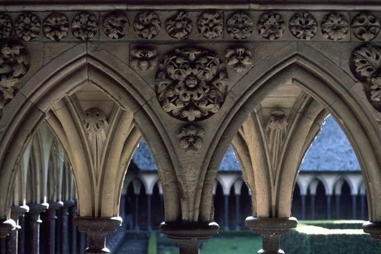 Cloister of Marvel, Abbey of Mont St. Michel, Normandy, France--Giclee Print