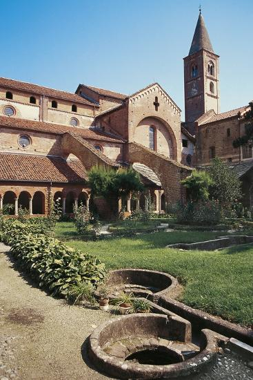 Cloister of the Abbey of St Mary of Staffarda--Photographic Print