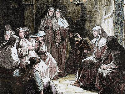 Cloistered Nuns, Gospel Reading, 19th Century-Prisma Archivo-Photographic Print