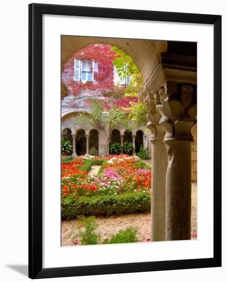 Cloisters at St-Paul-de-Mausole Monastery, St. Remy de Provence, France-Lisa S. Engelbrecht-Framed Photographic Print