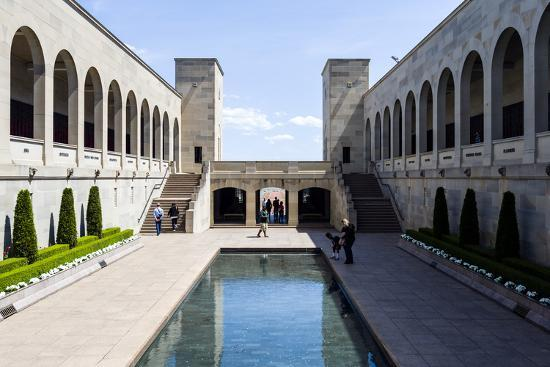 Cloisters Overlook the Memorial Courtyard, Eternal Flame and Memorial Pool-Jason Edwards-Photographic Print