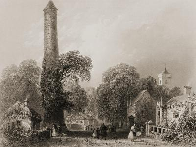 Clondalkin, County Dublin, Ireland, from 'scenery and Antiquities of Ireland' by George Virtue,…-William Henry Bartlett-Giclee Print