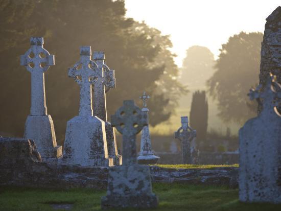 Clonmacnoise Monastery, Co Offlay, the Midlands, Ireland-Doug Pearson-Photographic Print
