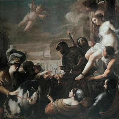 Clorinda Rescues Olindo and Sophronia, 1645-Mattia Preti-Giclee Print