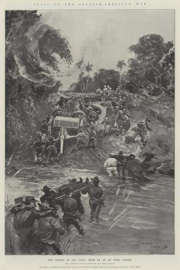 Close of the Spanish-American War, the Battle of San Juan, Held Up at an Ugly Corner-Henry Charles Seppings Wright-Giclee Print