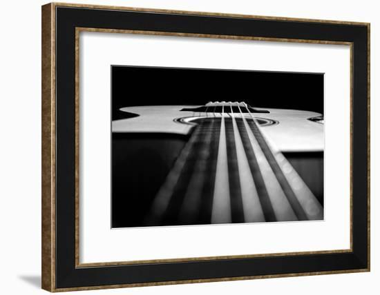 Close Up a Steel String Acoustic Guitar Built by Luthier John Slobod-Amy & Al White & Petteway-Framed Photographic Print