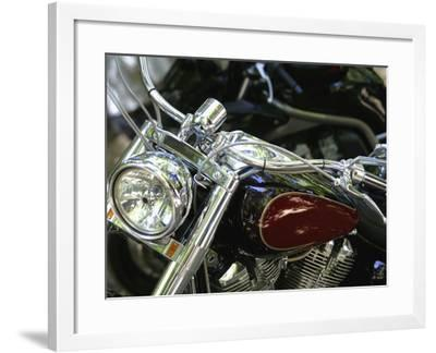 Close-up Image of a Motorcycle--Framed Photographic Print