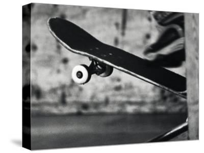 Close-up Monochromatic Image of a Skateboard