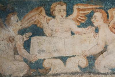 Close-Up of 16th Century Frescoes-Richard Maschmeyer-Photographic Print