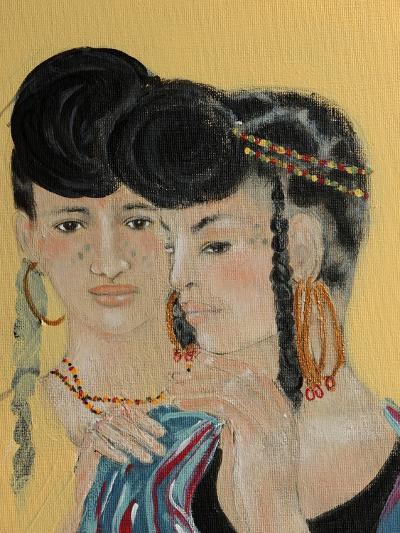 Close Up of 2 Wodaabe Women-Susan Adams-Giclee Print