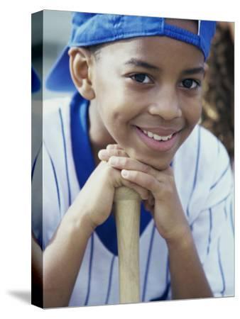 Close-up of a Boy From a Little League Baseball Team