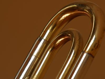 Close-up of a Brass Musical Instrument--Photographic Print