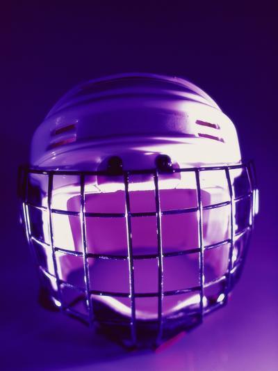 Close-up of a Hockey Helmet--Photographic Print