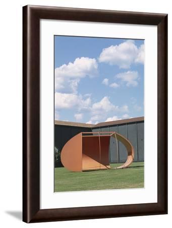 Close-Up of a Metallic Structure, Citta Di Castello, Perugia, Umbria, Italy--Framed Photographic Print