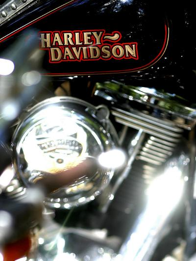 Close-up of a Motorcycle--Photographic Print