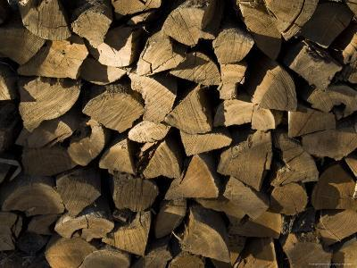 Close Up of a Pile of Firewood-Todd Gipstein-Photographic Print