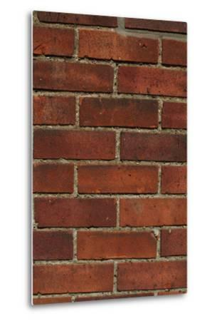 Close Up of a Red Clay Brick and Mortar Wall-Natalie Tepper-Metal Print